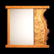 آینه چوبی دیواری تک