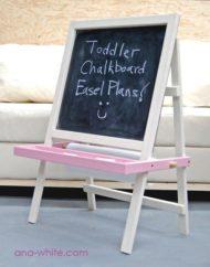 تخته سیاه گچی خانگی برای کودک