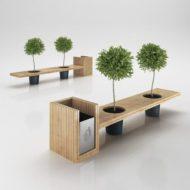 فروش مدل نیمکت چوبی مدرن