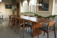 میز غذاخوری چوبی درختی کلاسیک