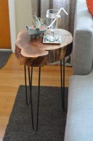 پایه بلند فلزی میز چوبی
