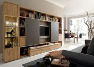 تزیین دیوار پشت تلویزیون با چوب