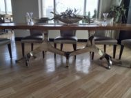 سازنده پایه میز ناهار خوری استیل و کروم و آهن
