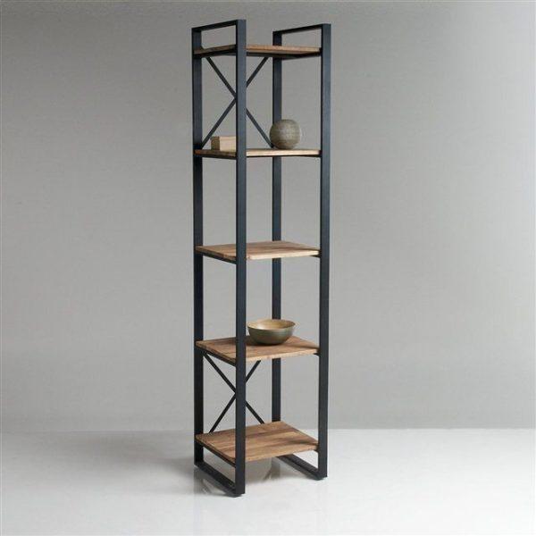 قفسه ترکیب چوب و فلز و آهن