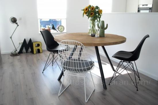 مدل های میز گرد ناهار خوری چوبی
