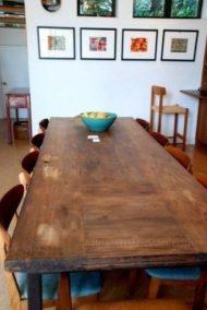 میز ناهار خوری با چوب بکر و طبیعی