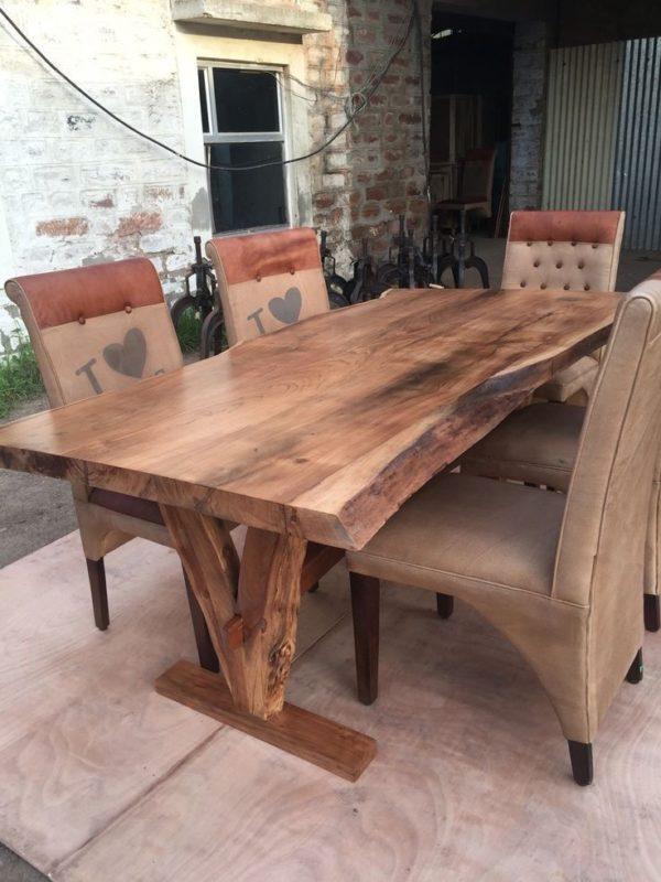 میز ناهار خوری مدل درختی تمام چوب طبیعی (2)