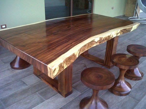 میز ناهار خوری چوب گردو درختی (6)