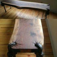 پایه های میز خلاقانه مدرن با چوب و فلز