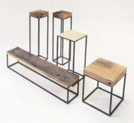 چاهار پایه چوب و فلز
