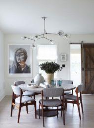 چگونه با میز ناهار خوری چوبی دکور اتاق را بچینیم
