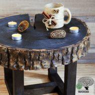 تولید میز مقابل مبل چوبی روستیک