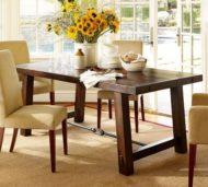 تولید میز ناهارخوری با چوب طبیعی به سبک روستیک