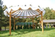 ساخت آلاچیق چوبی برای محوطه ویلا
