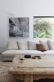 طراحی و ساخت میز جلو مبلمان چوبی به سبک روستیک