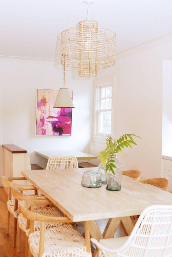 میز غذا خوری صفحه چوبی درختی (10)