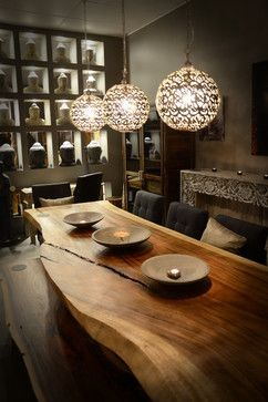 میز غذا خوری صفحه چوبی درختی (2)
