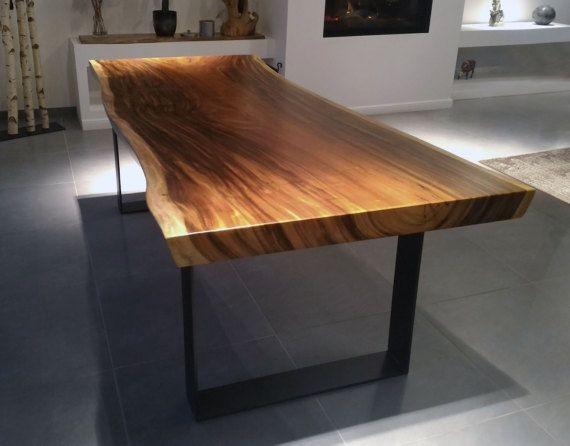 میز غذا خوری صفحه چوبی درختی (7)