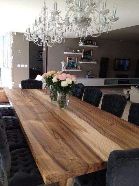 میز غذا خوری صفحه چوبی درختی (8)