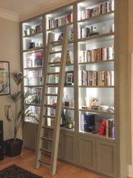 انواع طراحی و عکس مدل کتابخانه خانگی دکوری و چوبی