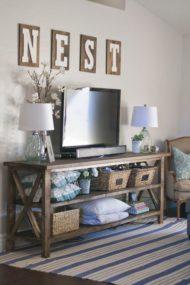 انواع طرح و مدل جدید میز تلویزیون چوبی