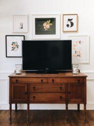 انواع طرح و نمونه جدید میز تلویزیون چوبی