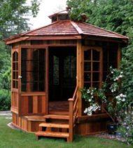ایده هایی برای طراحی آلاچیق و کلبه چوبی