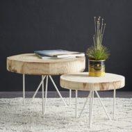 جدید ترین مدل های میز عسلی و جلو مبلی چوبی