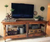 خرید انواع میز تلویزیون جدید و لوکس چوبی
