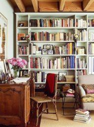 خرید کتابخانه خانگی مدرن چوبی
