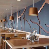 دکوراسیون داخلی رستوران چوبی