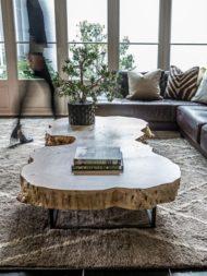 زیبا ترین مدل های میز مقابل مبل با چوب دست نخورده