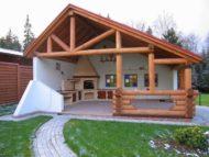 ساخت و اجرای آلاچیق های چوبی در ویلا