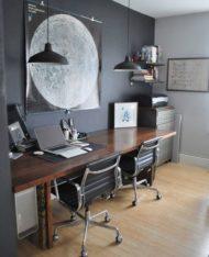 طراحی و ساخت و تولید انواع میز کار مدرن چوبی