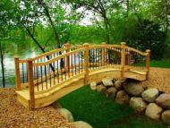 طراحی و ساخت پل چوبی برای ویلا و حیاط منزل