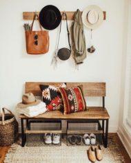 طرح های جدید و زیبا از جا لباسی های  ترکیب چوب و فلز