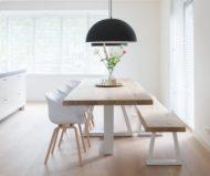 طرح های جدید و شیک از میز ناهارخوری چوبی