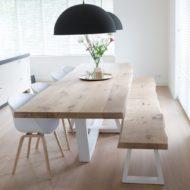 عکس مدل های جدید میز و صندلی غذا خوری چوبی