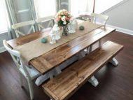 مدل میز ناهار خوری شیک چوبی