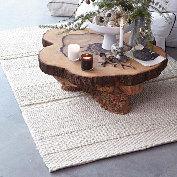 میز جلو مبلی چوبی درختی