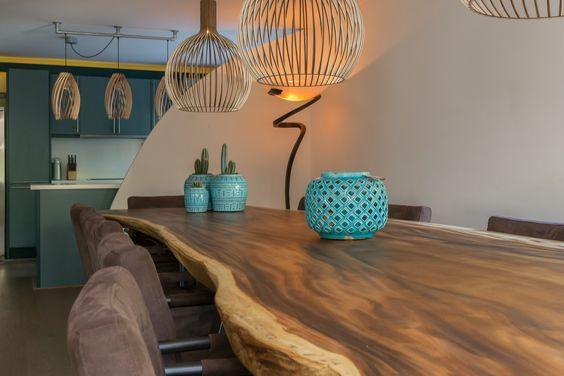 میز ناهار خوری چوب گردو درختی (1)
