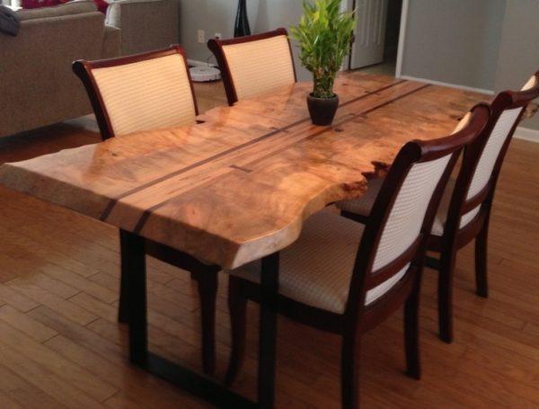 میز ناهار خوری چوب گردو درختی (3)