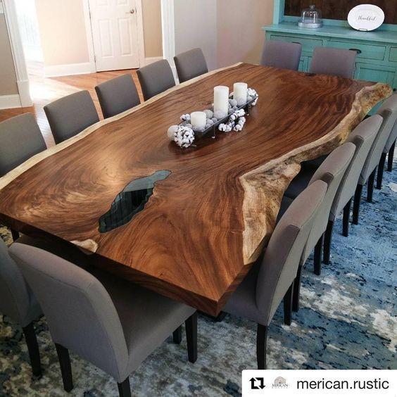 میز ناهار خوری چوب گردو درختی (4)