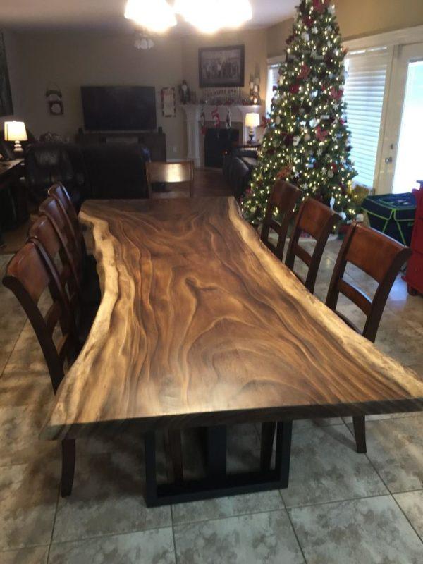 میز ناهار خوری چوب گردو درختی (5)