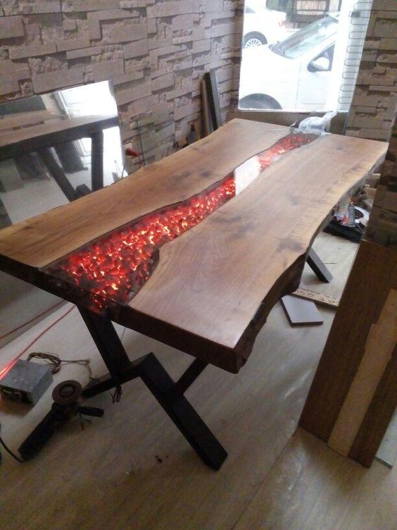 میز چوب و رزین (4)