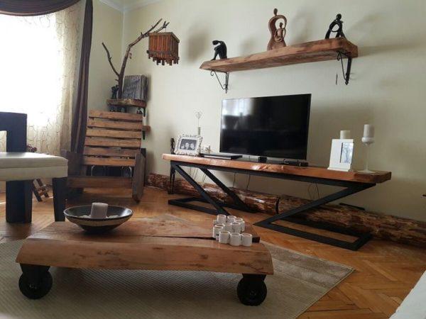 با کیفیت ترین مدل های میز ال سی دی چوبی