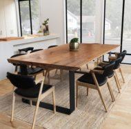 جدیدترین میز ناهارخوری چوبی 8 نفره روستیک و درختی