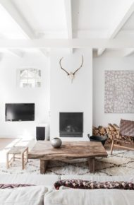 میزجلو مبلی چوبی جنگلی