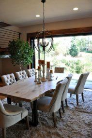 7 مدل جدید از میز ناهار خوری چوبی به سبک روستیک