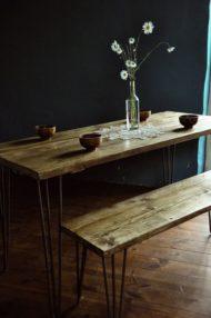 7 مدل نیمکت دار میز ناهار خوری چوبی